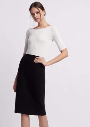 Emporio Armani Sheath Dress With Two-Piece Effect