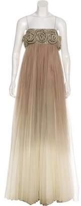 Marchesa Embellished Evening Dress