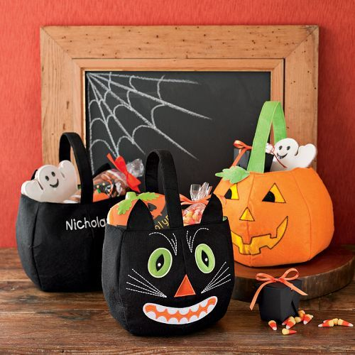Personalized Reflective Halloween Totes