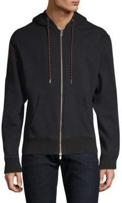 The Kooples Drawstring Zip-Front Hoodie