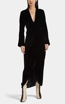 Zero Maria Cornejo Women's Nadja Velvet Long-Sleeve Dress - Black