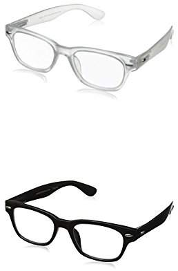 Peepers Rainbow Bright Wayfarer Reading Glasses 2.5x - Two-Pack ()