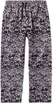 99% Is 99%IS- Leopard-Jacquard Trousers