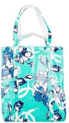 Chanel Vinyl Floral Tote
