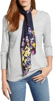 Halogen Floral Print Silk Twill Scarf