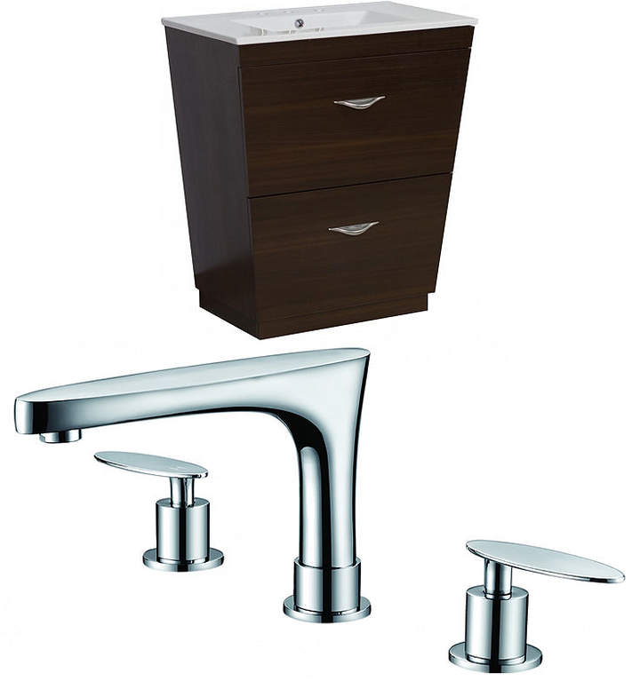 Vee V-Shape Floor Mount 8-in. o.c. Center Faucet Vanity Set