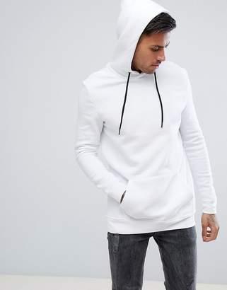 Bershka Hoodie In White