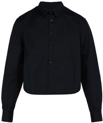 Raf Simons - Cropped Cotton Poplin Shirt - Mens - Black