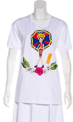Dolce & Gabbana Short Sleeve Embroidered Top