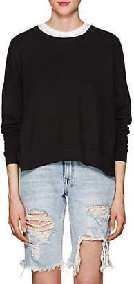NSF Women's Rubin Side-Snap Cotton Sweatshirt - Black Size M
