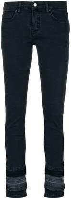 Victoria Beckham Victoria embellished cuff skinny jeans