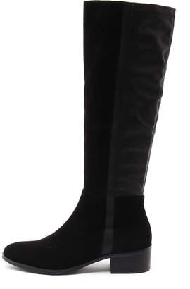 Django & Juliette Terri Navy Boots Womens Shoes Casual Long Boots