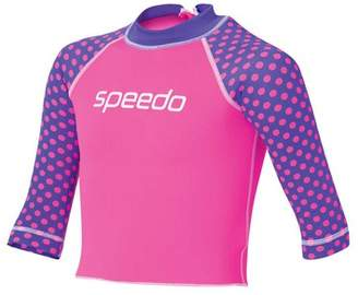 Speedo Toddler Girl's Logo Long Sleeve Sun Top