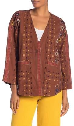 Madewell Patterned Jacquard Toggle-Loop Jacket