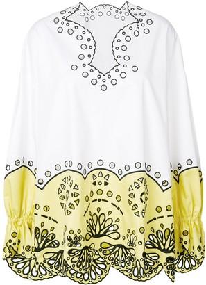 Emilio Pucci crocheted design blouse