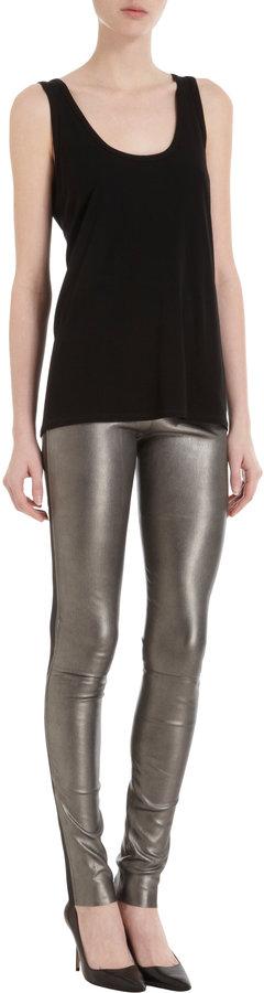 Les Chiffoniers Metallic Leather Leggings