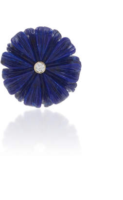 Lapis Brent Neale Single Small Wildflower Earring
