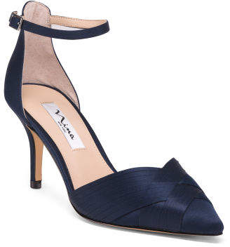 Ankle Strap Pointy Toe Evening Heels