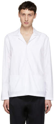 Studio Nicholson White Camp Collar Box Shirt