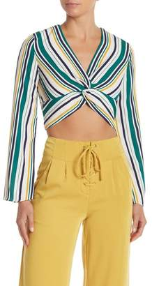 Do & Be Do + Be Stripe Twist Crop Top