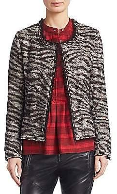 Etoile Isabel Marant Women's Lycia Zebra Cropped Snap Jacket