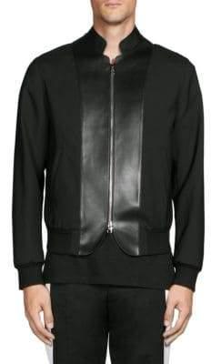 Alexander McQueen Paneled Full-Zip Jacket