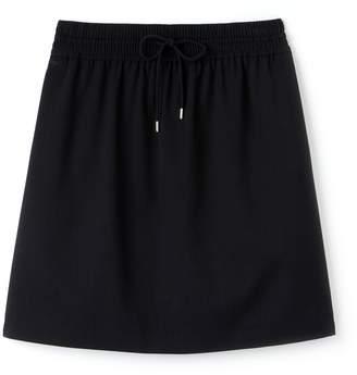 Lacoste Women's Elasticized Waist Flowing Stretch Wool Knit Skirt