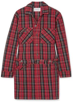 badad2138b5 Current Elliott Tartan Denim Mini Dress - Red
