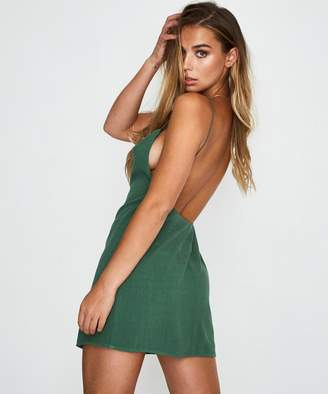Alice In The Eve Maddie Backless Mini Dress Green