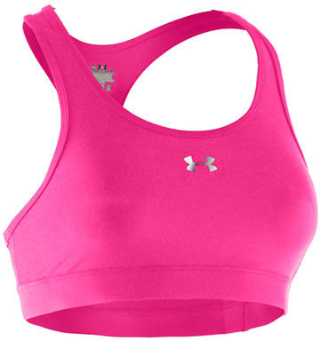 Under Armour HeatGear Sonic Bra in Pinkadelic and Silver