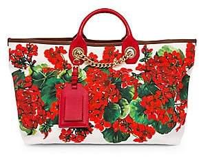 Dolce & Gabbana Women's Portofino Floral Canvas Shopper