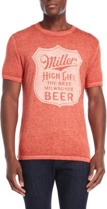 Lucky Brand Miller High Life Slub Graphic Tee