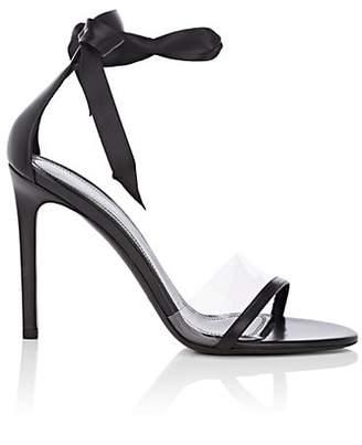 Calvin Klein Women's Camri Leather & Pvc Ankle-Tie Sandals - Black Size 9.5