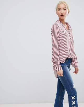 New Look Stripe Grandad Shirt