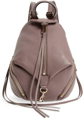 Rebecca Minkoff Mini Julian Pebbled Leather Convertible Backpack