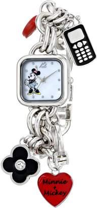 Disney Women's Minnie Mouse Dial Charm Watch MN2011