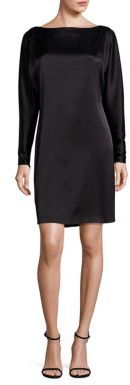 Polo Ralph Lauren Satin Boatneck Shift Dress $345 thestylecure.com