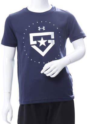 Under Armour (アンダー アーマー) - アンダーアーマー UNDER ARMOUR ジュニア 野球 半袖Tシャツ UA TECH YOUTH HEATER LOGO 1313618