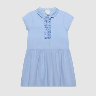 Gucci Children's cotton dress with ruffle detail