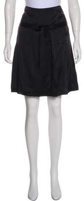 Burberry Satin Mini Skirt