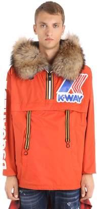 DSQUARED2 K-Way Hood Reversible Nylon Rain Jacket