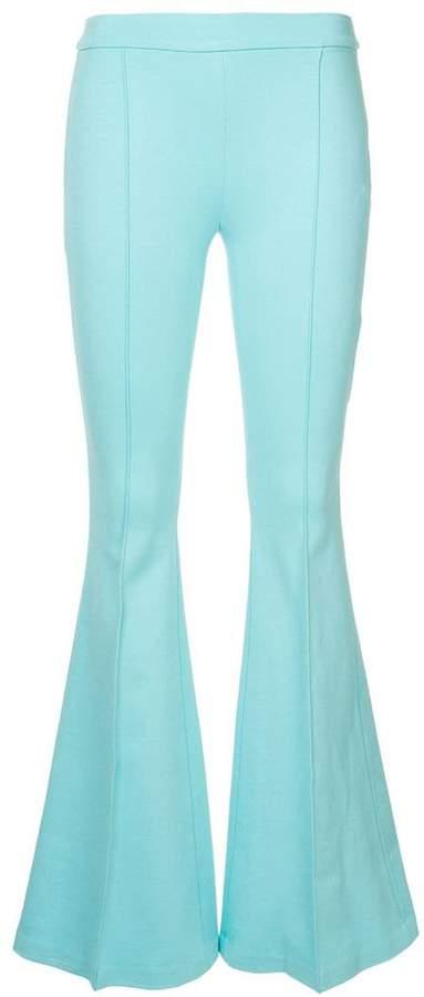 flared plain trousers