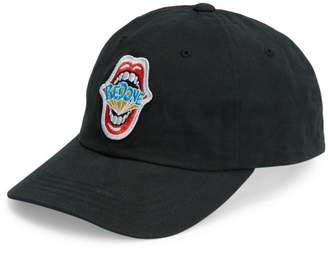 RE/DONE Embroidered Mouth Logo Dad Baseball Cap