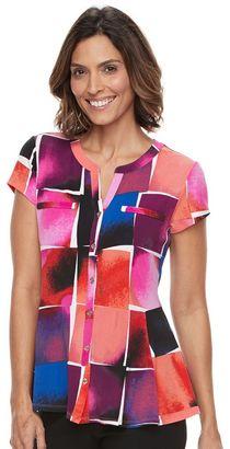 Women's Dana Buchman Printed Peplum Shirt $40 thestylecure.com