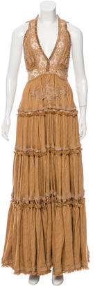 Jean Paul Gaultier Linen & Silk Evening Gown w/ Tags $795 thestylecure.com