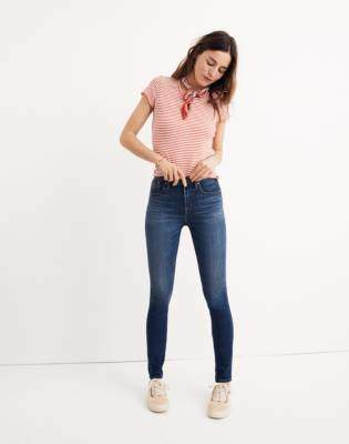 "Madewell Tall 10"" High-Rise Skinny Jeans in Danny Wash: Tencel Edition"