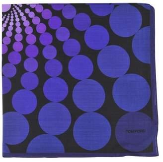 Tom Ford Pocket Square Men's Black,Light Violet Geometric pattern Silk