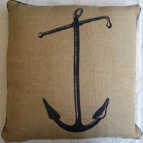 Thomas Paul Anchor Jute Pillow