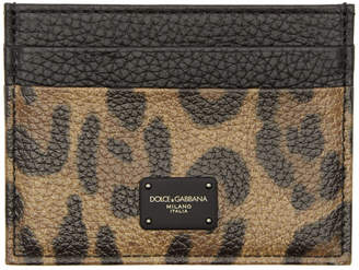 Dolce & Gabbana Tan Leopard Card Holder