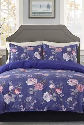 California Design Den by NMK Harley 3-Piece King Comforter Set - Purple